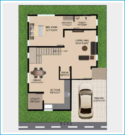 floor plan 1, east facing 4BHK villa in sarjapur
