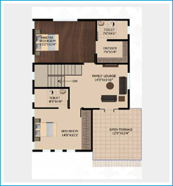 floor plan 2, east facing 4BHK villas in sarjapur